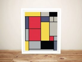 Composition ll Colourful Mondrian Wall Art