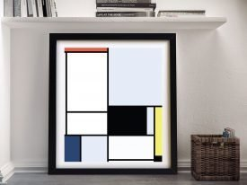 Tableau ll Framed Abstract Canvas Print