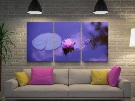 Purple Lotus Triptych Canvas Art Set