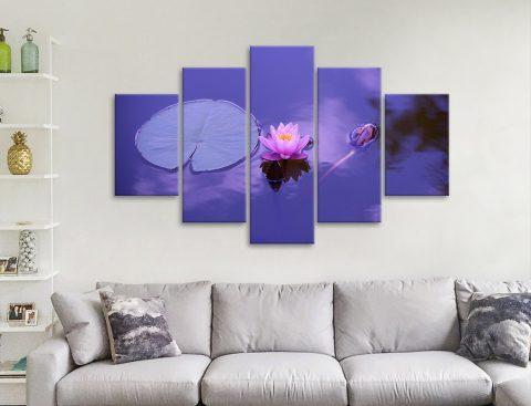 Stunning Floral Wall Art on Split Panels