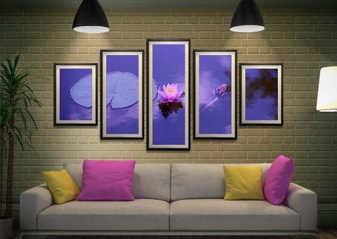 Buy a Purple Lotus Split Diamond Art Set