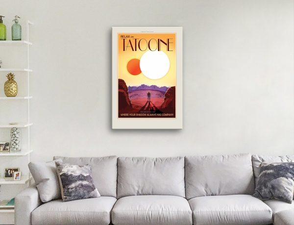 Tatooine Travel Poster canvas print