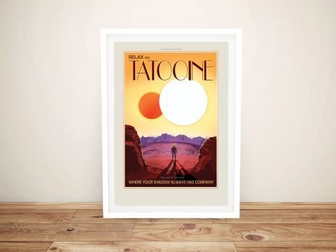 Tatooine Star Wars Travel Poster