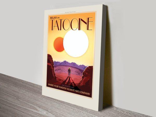 Relax on Tatooine canvas print