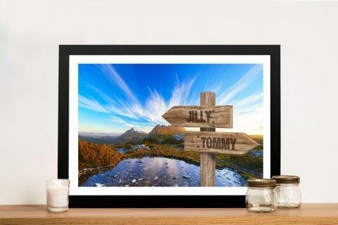 Cradle Mountain Signpost Bespoke Print