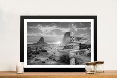 Framed Retro Custom Signpost Art Online