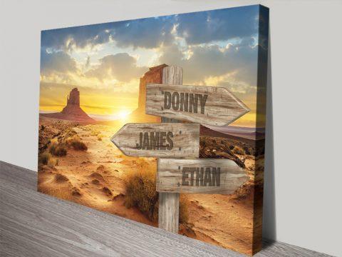 Buy a Desert Sunset Vintage Custom Print