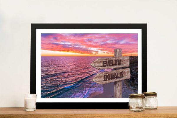 Framed Guilderton Sunset Art for Sale AU