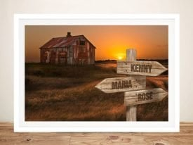 Old House Custom Signpost Canvas Print