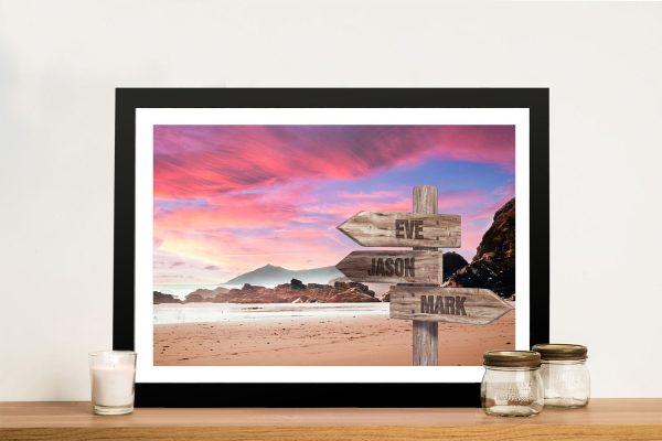 Rose Sunset Framed Bespoke Art Online