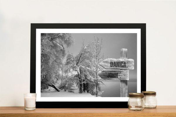 Snow Fields Framed Art Unique Home Decor AU