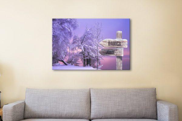 Snow Fields Ready to Hang Bespoke Print
