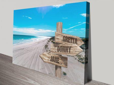 The Wedge Signpost Bespoke Canvas Art