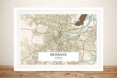 Retro Brisbane Map