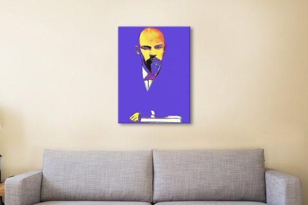 Blue Lenin Cool Pop Art for Sale Great Gifts AU