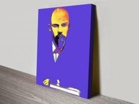 Buy Warhol Blue Lenin Pop Art on Canvas