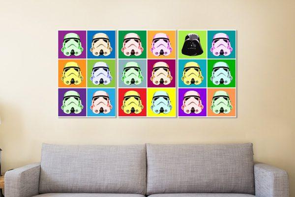 Colourful Star Wars Warhol Wall Art AU