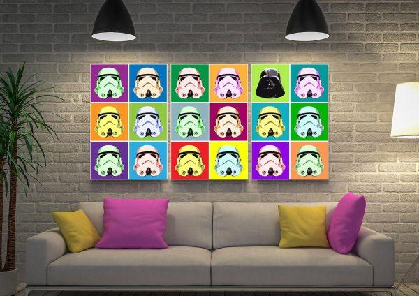 Stormtrooper Triptych Art Unique Gifts AU