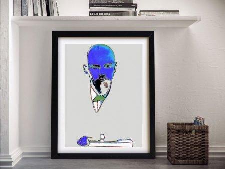 Framed Warhol White Lenin Pop Art Print