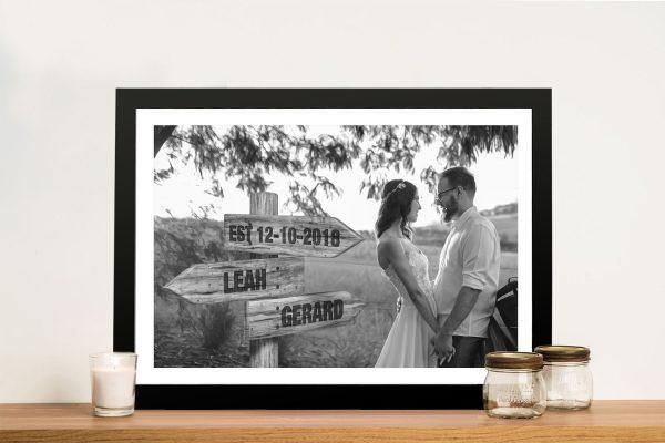 Personalised Wedding Signpost Gift