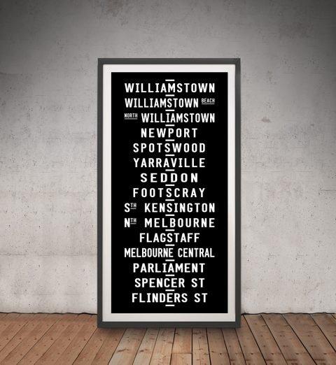 Framed Black & White Tram Scroll for Sale