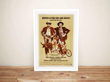 Butch Cassidy Framed Movie Poster Art