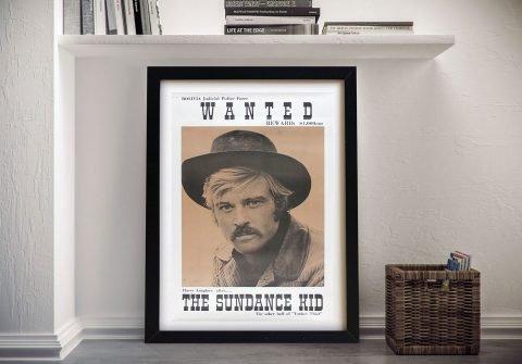 Framed Robert Redford Wanted Poster Online