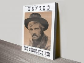Butch Cassidy Wanted Classic Poster Print