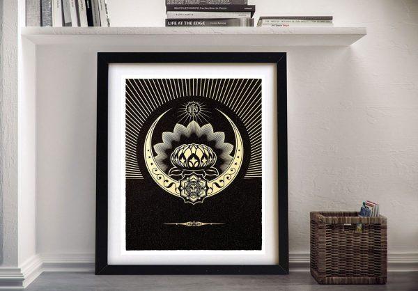 Obey Lotus Artwork Online Gallery Sale