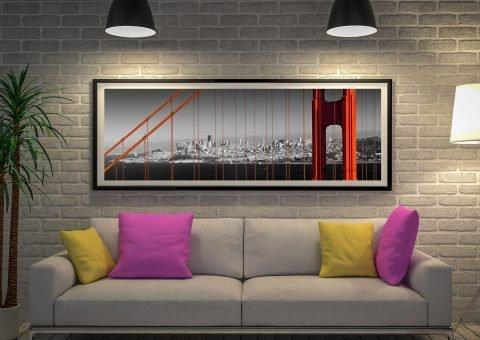 Golden Gate Bridge Panoramic Framed Print