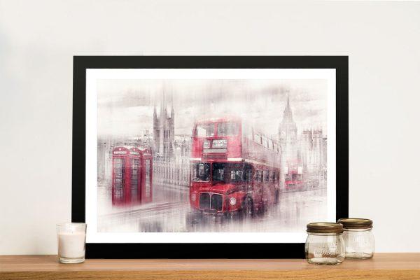 Framed Scene of Westminster on Canvas