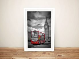 Buy a Framed London Street Scene Print
