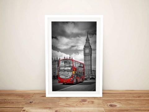Buy a Framed London Street Scene Print