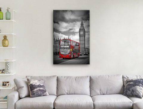 London Streetscene Colour Splash Art
