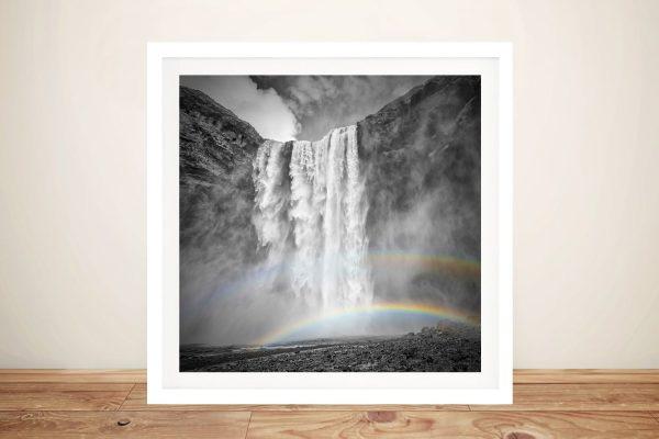Framed Skógafoss Waterfall Art for Sale