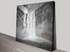 Iceland Skogafoss Double RainbowPrint