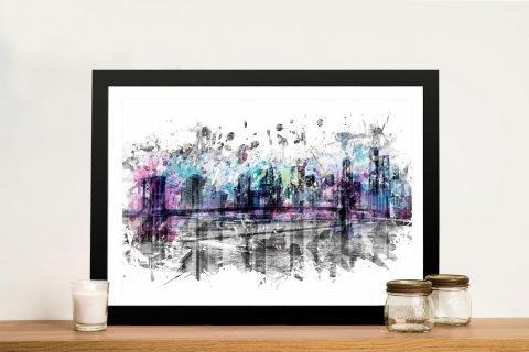 Framed Modern Skyline Art by Melanie Viola