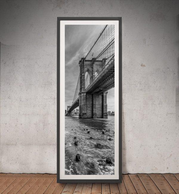 Framed Brooklyn Bridge Upright Panoramic Art
