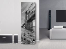 NYC Brooklyn Bridge Monochrome Panorama