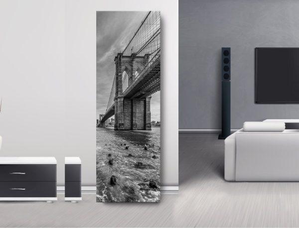 NYC Brooklyn Bridge Monochrome Panorama
