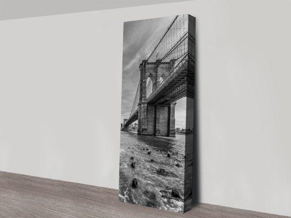 Brooklyn Bridge Black & White Melanie Viola Art