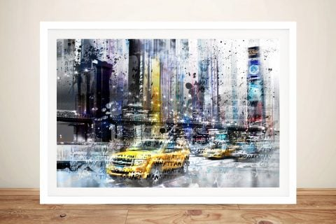 Buy a Framed NYC Collage Canvas Print