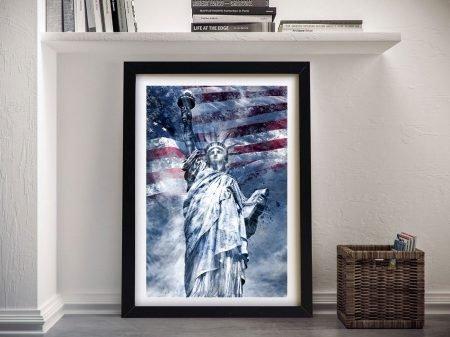 Framed Statue of Liberty Modern Wall Art