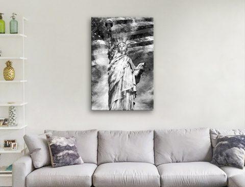 Statue of Liberty Black & White Art Online