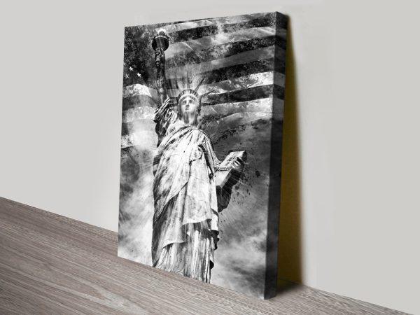 Monochrome Wall Art Statueof Liberty