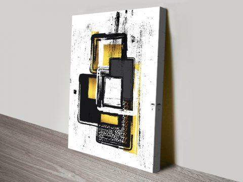 Ready to Hang Gold Tones Abstract Print