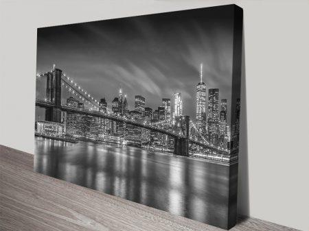 Buy a Brooklyn Bridge Monochrome Print