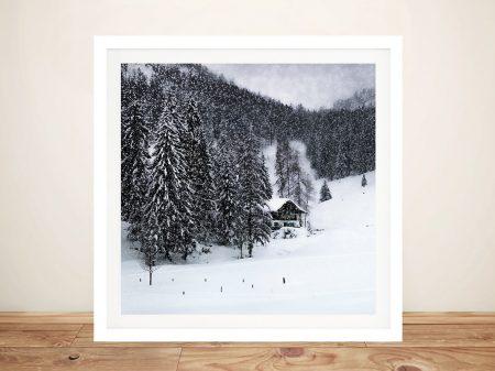 Bavarian Winters Tale Print on Canvas