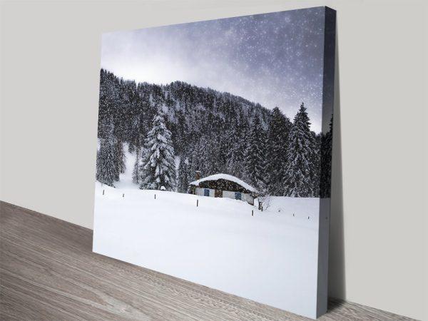 Bavarian Winters Tale Vll Canvas Wall Art