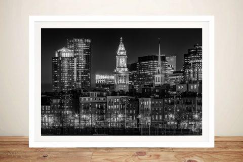 Boston Skyline Framed Melanie Viola Art